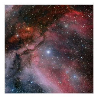 Carina Nebula around the Wolf Rayet star WR 22 Poster