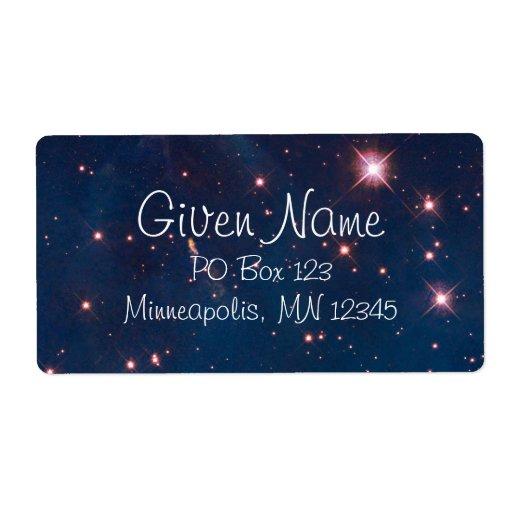 Carina Nebula Avery Label Personalized Shipping Labels