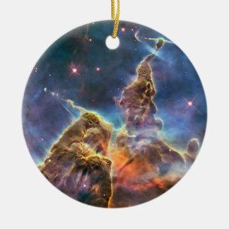 Carina Nebula by the Hubble Space Telescope Ceramic Ornament