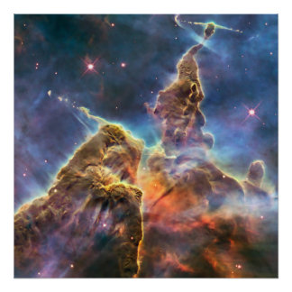 Carina Nebula by the Hubble Space Telescope Poster