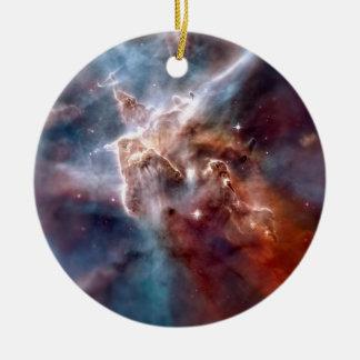 Carina nebula ceramic ornament