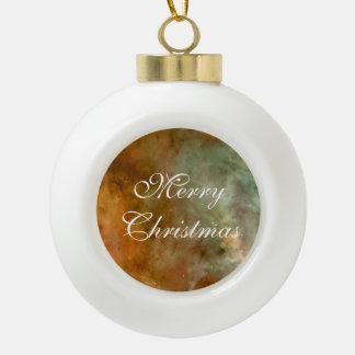 Carina Nebula cool marble sheen Ceramic Ball Christmas Ornament