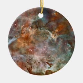 Carina Nebula Dark Clouds Ceramic Ornament