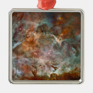 Carina Nebula Dark Clouds Metal Ornament