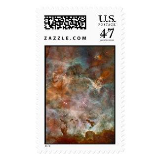Carina Nebula Dark Clouds Postage