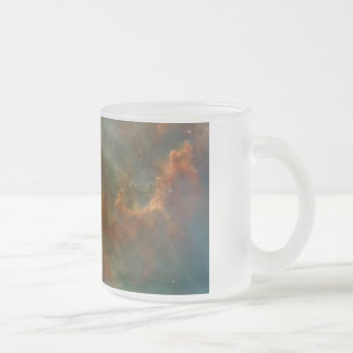 Carina Nebula Detail Frosted Glass Coffee Mug