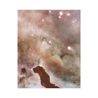 Carina Nebula Dust Pillar Canvas Print