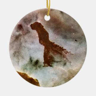 Carina Nebula Dust Pillar Ceramic Ornament