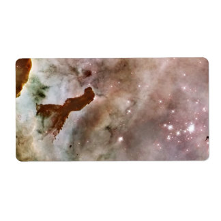 Carina Nebula Dust Pillar Label