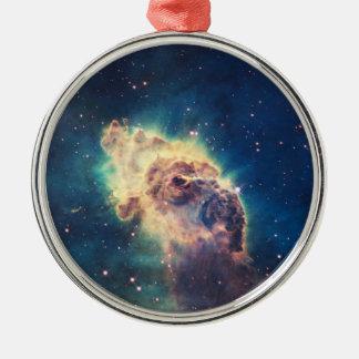 Carina Nebula from Hubble's Wide Field Camera Metal Ornament
