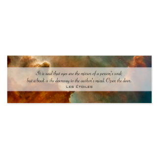 Carina Nebula: Great Clouds Double-Sided Mini Business Cards (Pack Of 20)