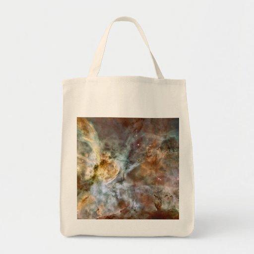 Carina Nebula Hubble 17th Anniversary Image Grocery Tote Bag