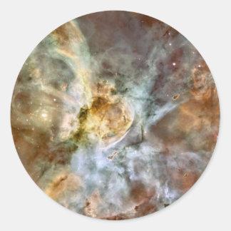 Carina Nebula Hubble 17th Anniversary Image Round Stickers