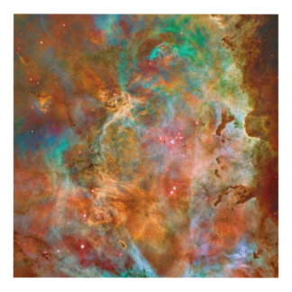 Carina Nebula, Hubble astronomy space picture Panel Wall Art