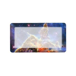 Carina Nebula (Hubble Telescope) Address Label