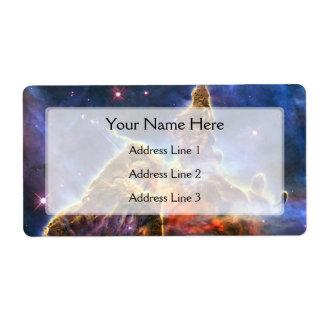 Carina Nebula (Hubble Telescope) Label