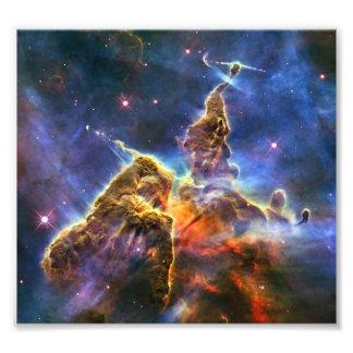 Carina Nebula Hubble Telescope Art Photo