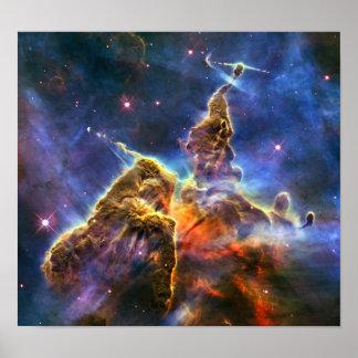 Carina Nebula (Hubble Telescope) Poster