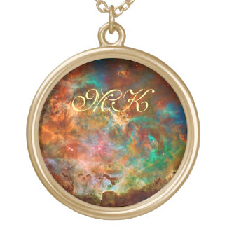 Carina Nebula in Argo Navis constellation Gold Plated Necklace