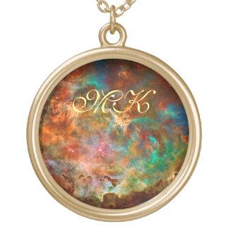 Carina Nebula in Argo Navis constellation Round Pendant Necklace
