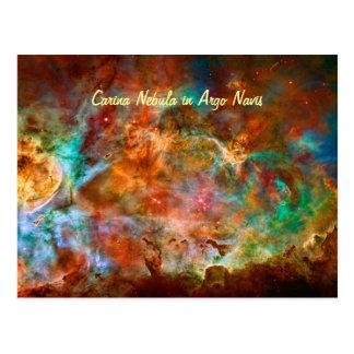 Carina Nebula in Argo Navis constellation Postcard