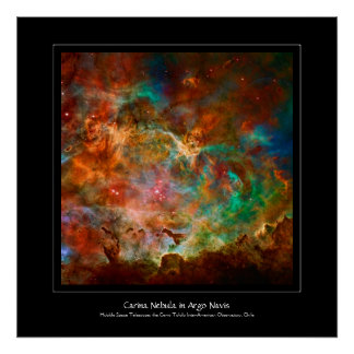 Carina Nebula in Argo Navis constellation Poster
