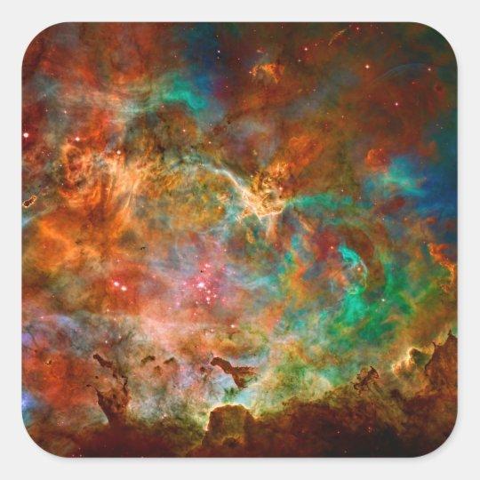 Carina Nebula in Argo Navis constellation Square Sticker
