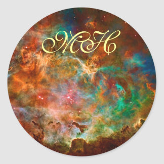Carina Nebula in Argo Navis constellation Classic Round Sticker