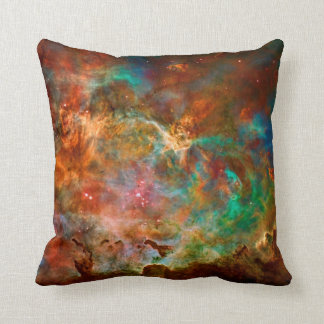 Carina Nebula in Argo Navis constellation Throw Pillow