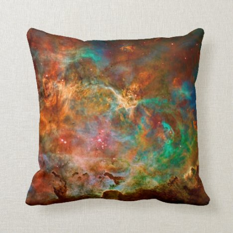 Carina Nebula in Argo Navis constellation Throw Pillow