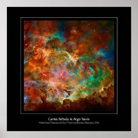 Carina Nebula in constellation Argo Navis Poster