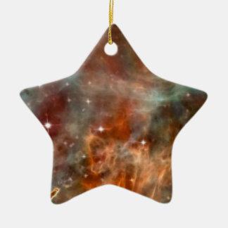 Carina Nebula marble look Ceramic Ornament