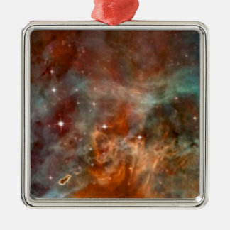 Carina Nebula marble look Metal Ornament