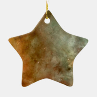 Carina Nebula marble sheen NASA Ceramic Ornament