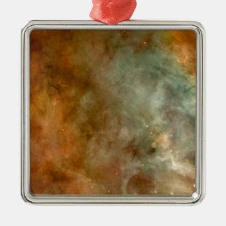 Carina Nebula marble sheen NASA Metal Ornament