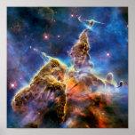 Carina Nebula Mystic Mountain Detail Poster