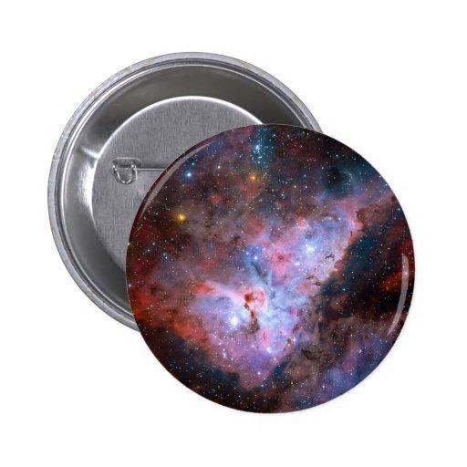 Carina Nebula NGC 3372 72 x 72 Light Year Region Pinback Buttons