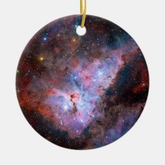 Carina Nebula NGC 3372 72 x 72 Light Year Region Ceramic Ornament