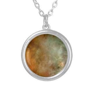 Carina Nebula Round Pendant Necklace