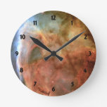 Carina Nebula Shadow and Light Round Clock