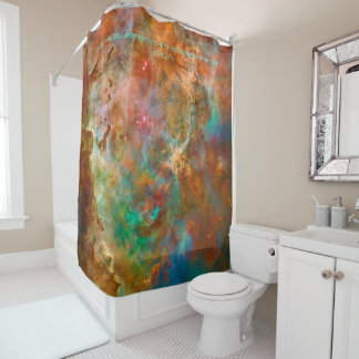 Carina Nebula, Showering in Starlight Shower Curtain