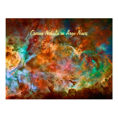 Carina Nebula space picture Postcard