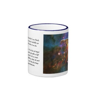 Carina Nebula, Star Forming Gas-cloud Sculpture Ringer Coffee Mug