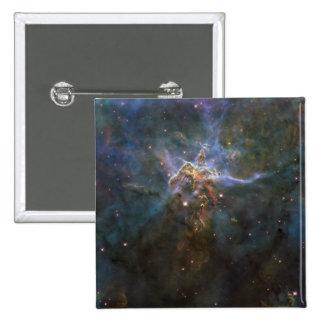 Carina Nebula Star-forming Pillars 2 Inch Square Button