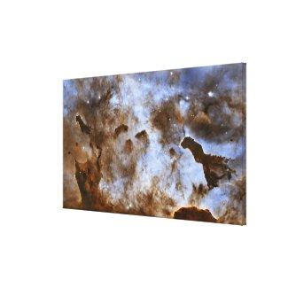 Carina Nebula Star-Forming Pillars Canvas Print