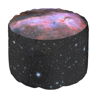 Carina Nebula, telescope astronomy picture Round Pouf