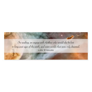 Carina Nebula: The Caterpillar Double-Sided Mini Business Cards (Pack Of 20)