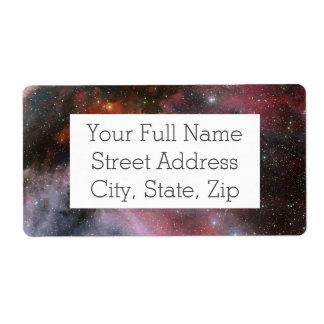 Carina Nebula, Wolf–Rayet star WR 22 Label