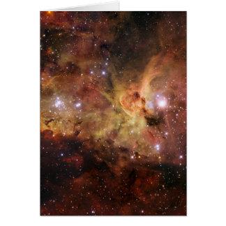 Carina nebulae in space NASA Card