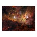 Carina nebulae in space NASA Post Cards